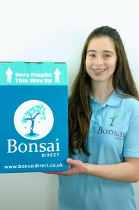 Holly with new Bonsai Direct boxes