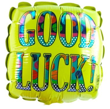 Good luck foil balloon