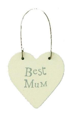 Best mum heart shaped tag